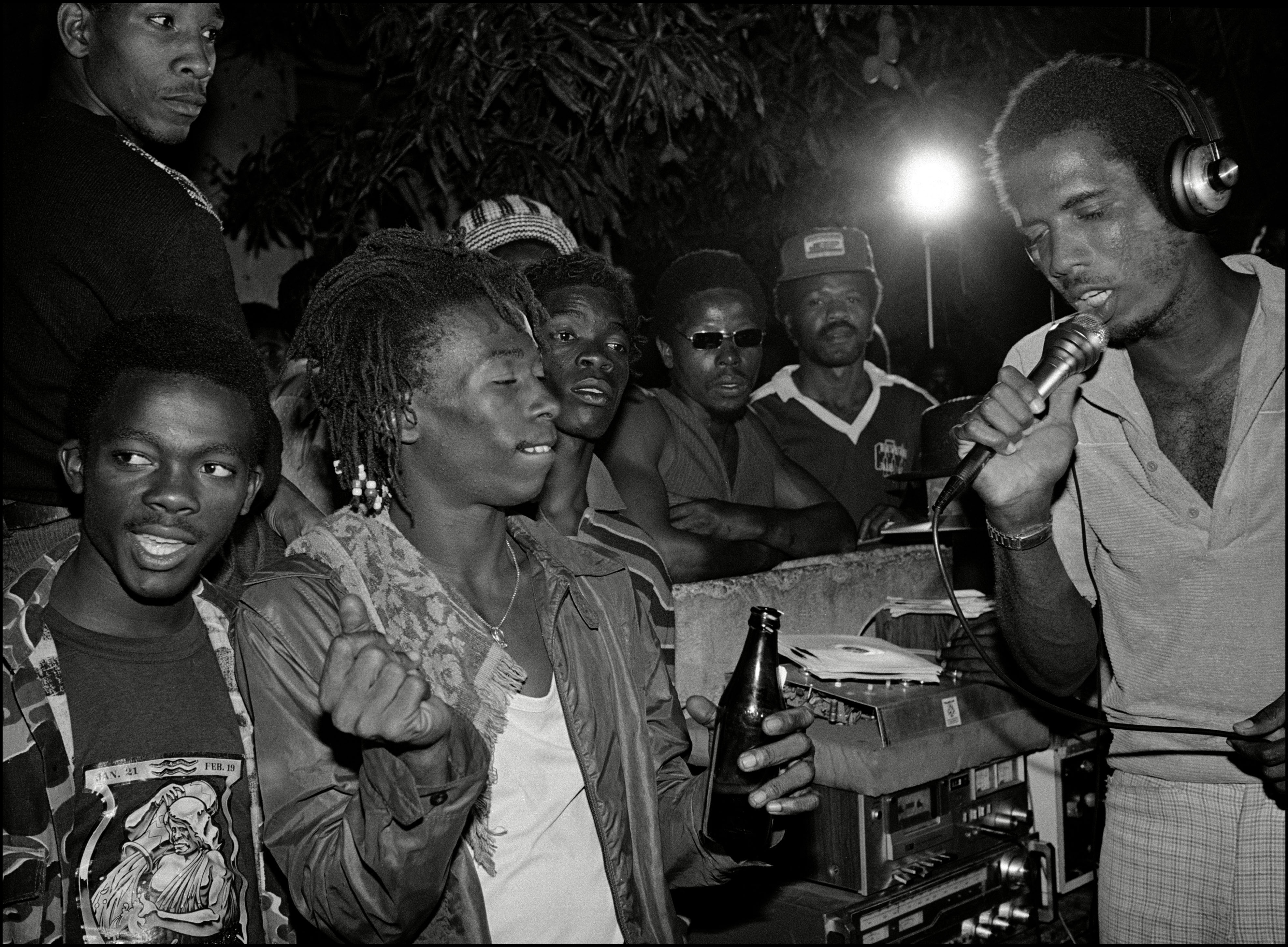 Sound System party in Trenchtown