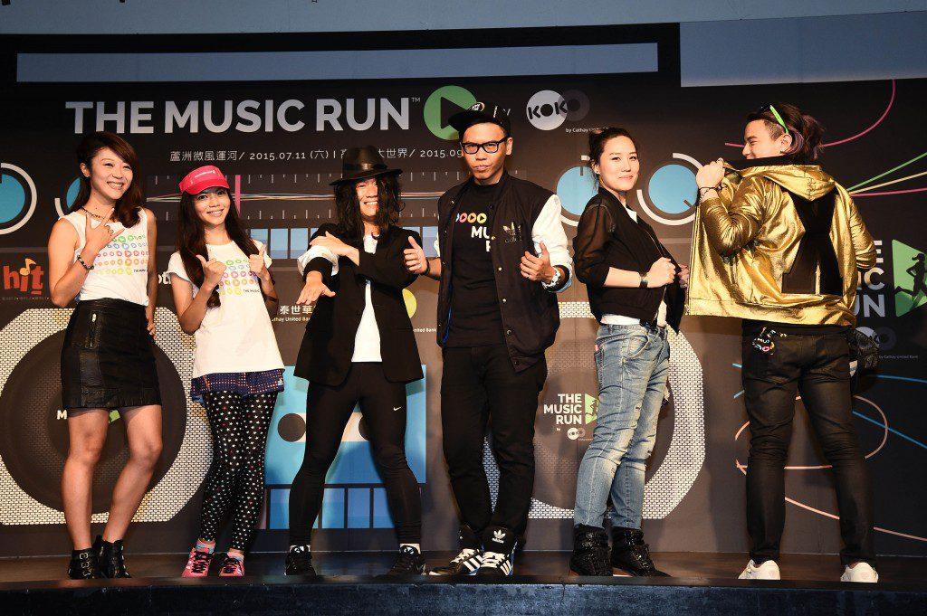 左起徐裴翊、夏美、胡杰、Bounce、藍洞XN
