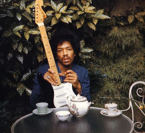Monika在Hendrix過世前一天拍攝的照片。Photo by Monika Danneman
