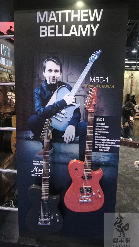英國大團MUSE吉他兼主唱的Cort簽名琴