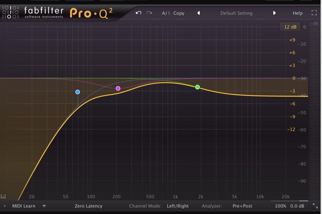 視狀況在reverb後設置EQ Plug-in,調整Reverb效果