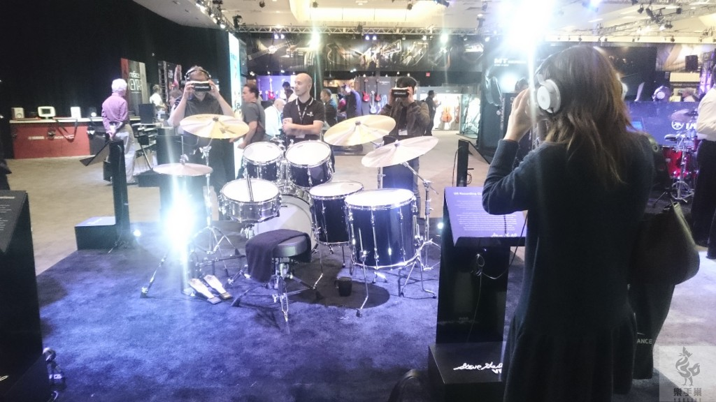 YAMAHA(獨立展示會館)的VR鼓實境體驗