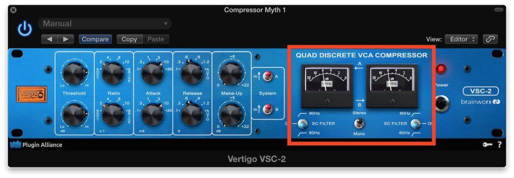 觀察硬體/軟體Compressor的指針跳動方式