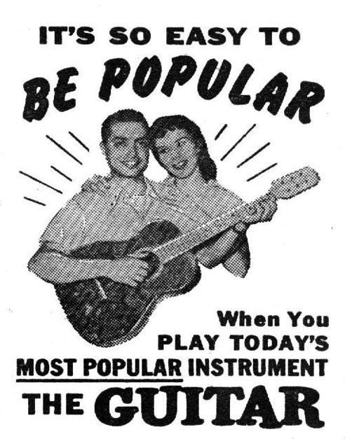要受歡迎很簡單!只要彈奏現在最受歡迎的樂器:「吉他!」