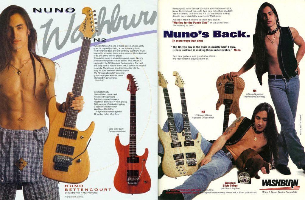 Nuno在90年代的吉他廣告