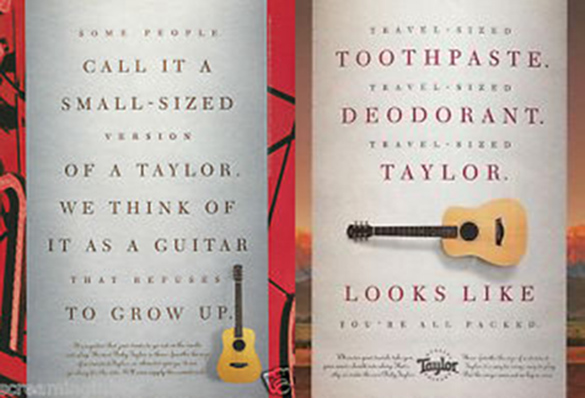 98年左右的baby taylor吉他廣告