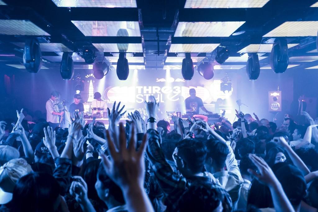 氣氛熱絡的Thre3style世界DJ大賽台灣站Myst Club現場