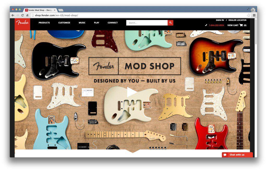 Fender 新推出的 Mod Shope 頁面