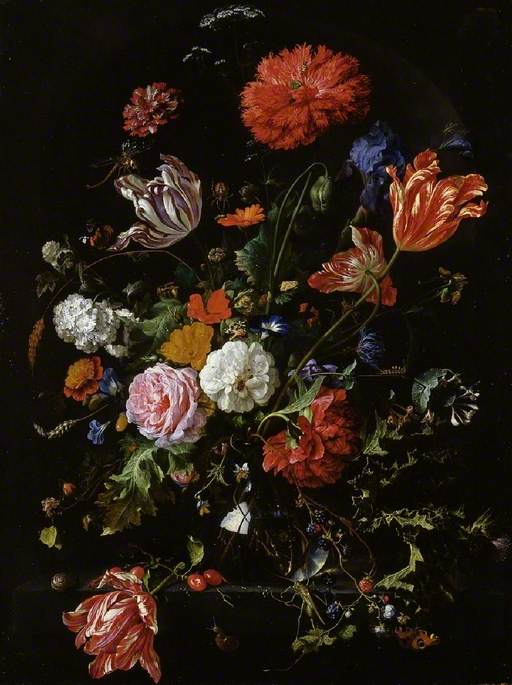 de Heem, Jan Davidsz.; Flower Piece; The Fitzwilliam Museum; http://www.artuk.org/artworks/flower-piece-4435