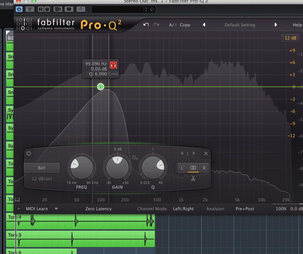 利用 Fabfilter的 solo功能來聽頻段