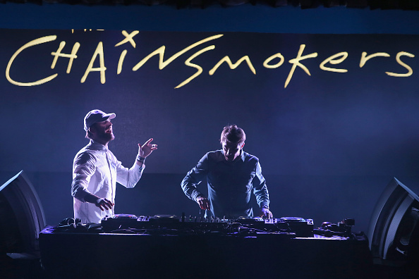 PARK CITY, UT - JANUARY 21: Andrew Taggart and Alex Pall of The Chainsmokers perform on stage at the Billboard Winterfest at Park City Live! on January 21, 2016 in Park City, Utah. (Photo by Mat Hayward/Getty Images for Billboard)