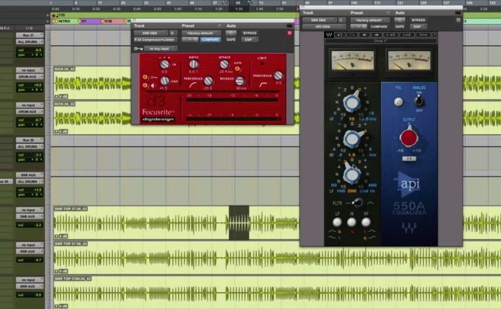 Pensado Parallel Compressing snare drums