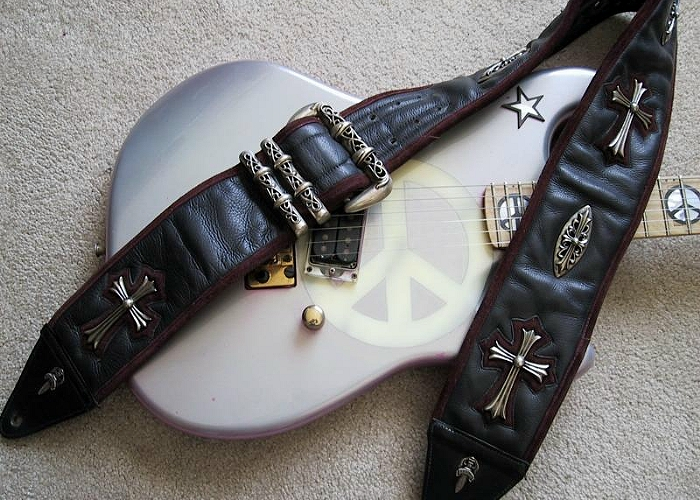 Richie-Samboras-Chrome-Hearts-Guitar-Strap