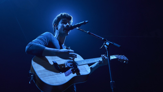 Mandatory Credit: Photo by REX/Shutterstock (5668684s) Shawn Mendes Shawn Mendes in concert, Madrid, Spain - 29 Apr 2016